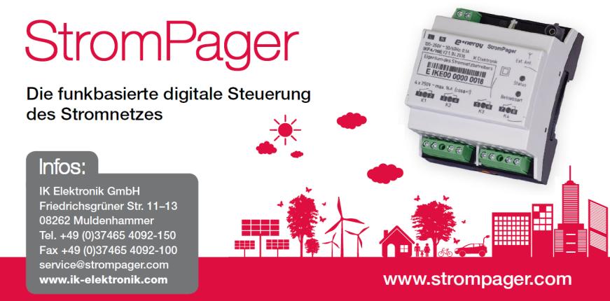 StromPager von IK Elektronik leistet wichtigen Beitrag zur Energiewende.
