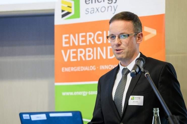Vortrag von Marko Herold, IK Elektronik, beim Energy Saxony Summit