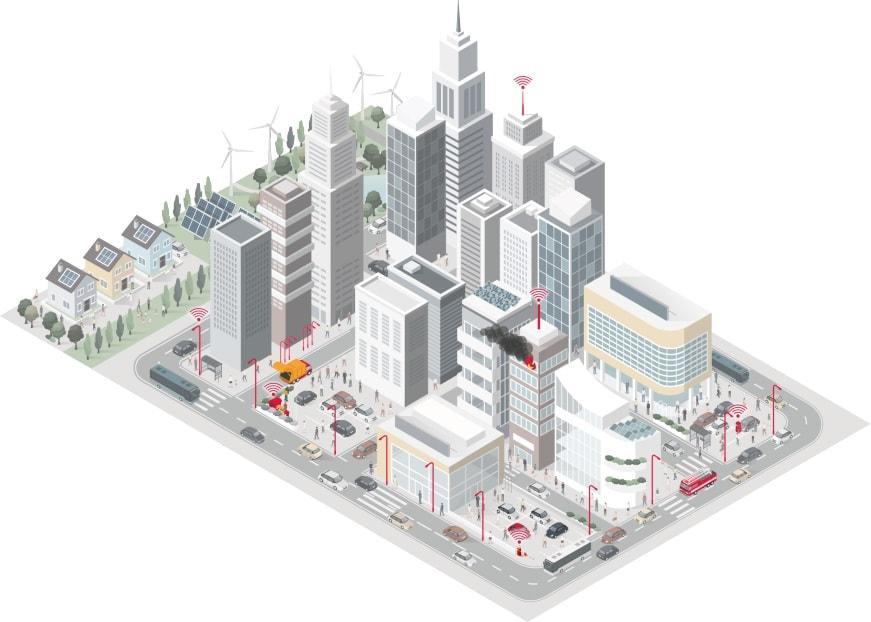 Smart City Stadtansicht