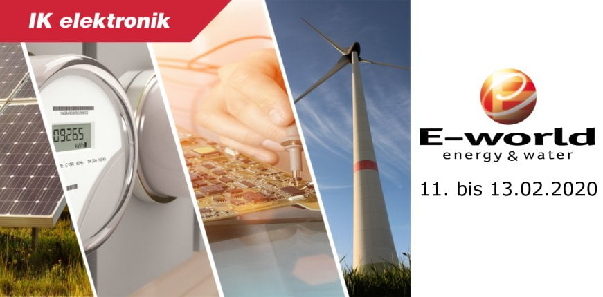 E-World 2020 mit IK Elektronik