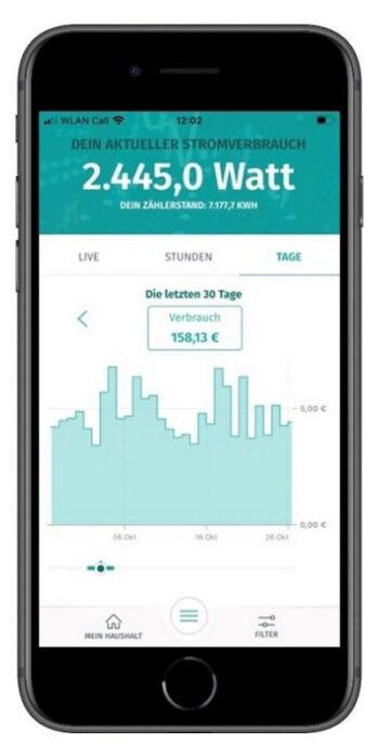 Zähler an die Cloud: Tagesverbrauchsanzeige in Enera App