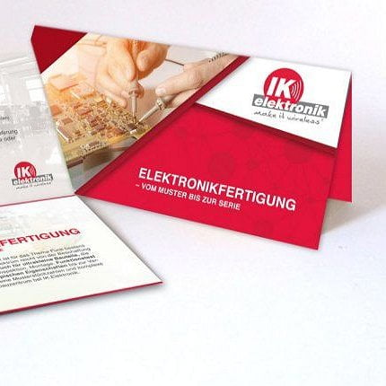 EMS Elektronikfertigung IK Elektronik Flyer