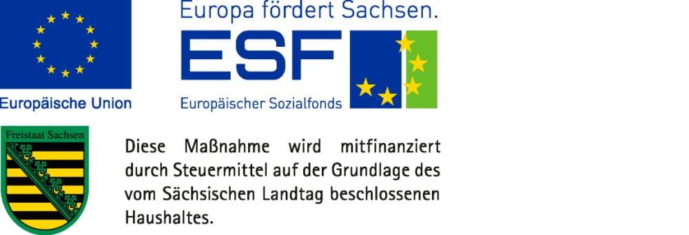 Förderung durch den Europäischen Sozialfonds ESF und den Freistaat Sachsen